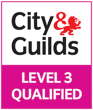City & Guilds Level 3 qualified